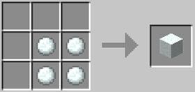 雪ブロックのレシピ