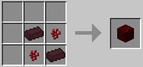 赤いネザーレンガのレシピ