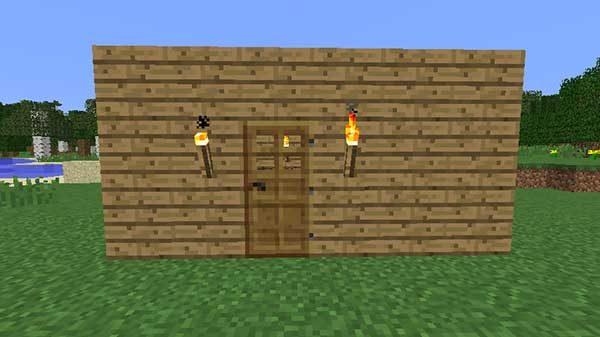 ドアと松明