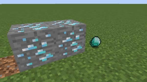 ダイヤモンド鉱石とダイヤモンド