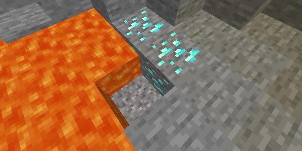 溶岩に落ちる砂利