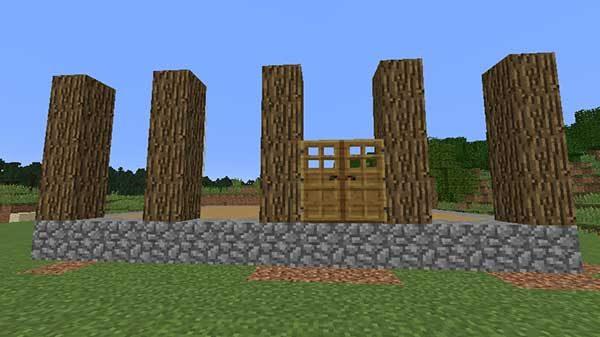 オークの原木の柱