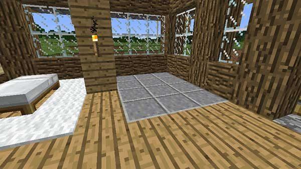 床の磨かれた安山岩