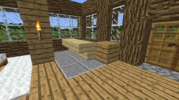 シラカバの階段(逆さま)とオークの木材
