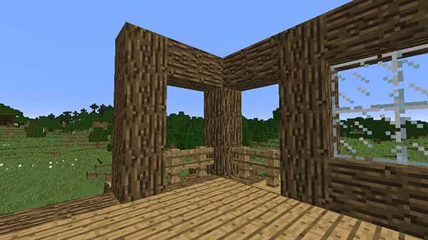 柱とフェンス