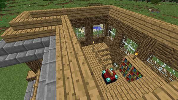 オークの階段の屋根