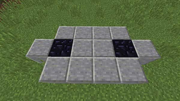 黒曜石の間の型枠用ブロック
