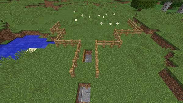 村人ゾンビを捕えるためのトラップ