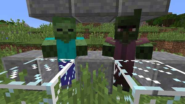 ゾンビと村人ゾンビ