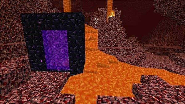 ゲートに流れ込む溶岩