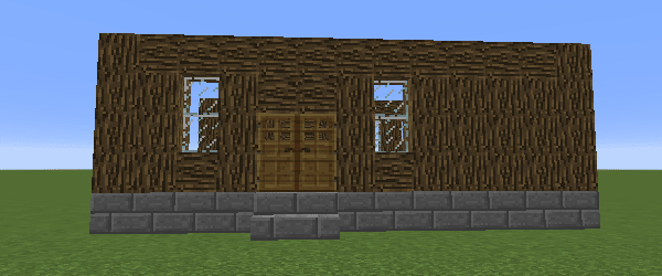 裏口側の壁