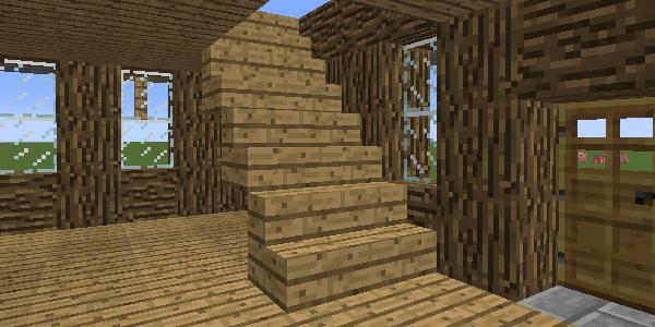 完成した階段