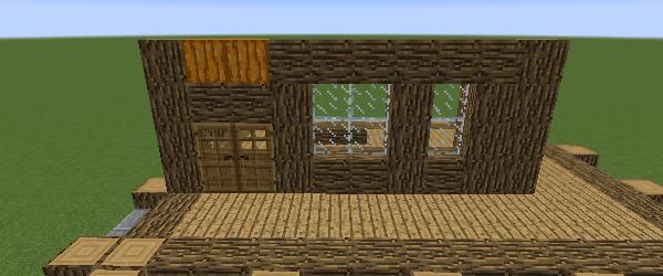 玄関側の二階の壁