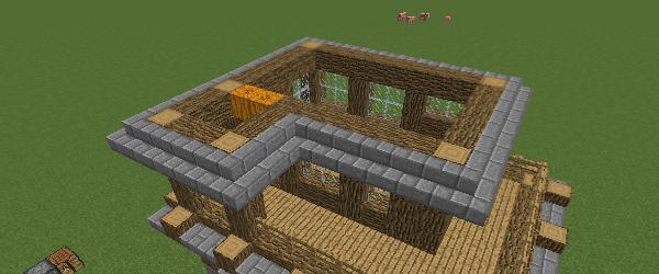 石レンガの階段の屋根