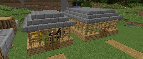 馬小屋と豚小屋