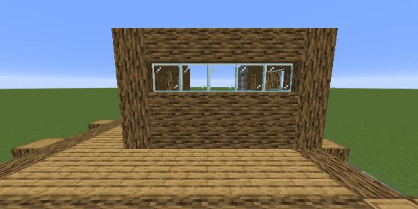 玄関に向かって右側の2階の壁