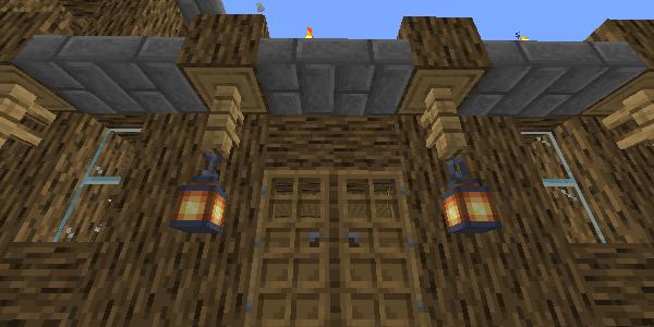 玄関脇のランタン