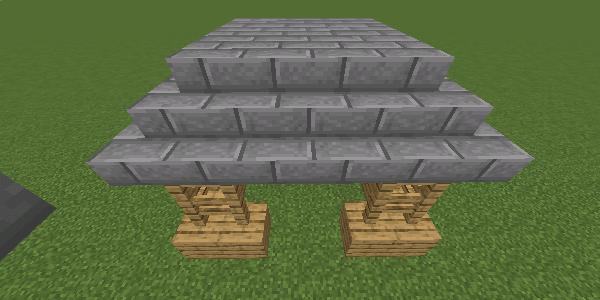 石レンガのハーフブロックの屋根