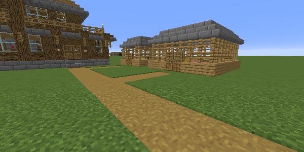 家から小屋までの道