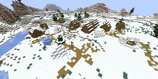雪のツンドラの村