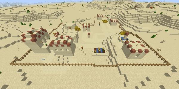 フェンスで囲まれた村