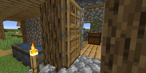 村の家の中のチェスト