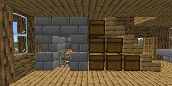 暖炉と倉庫