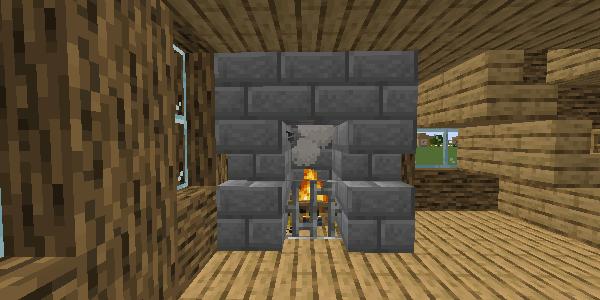 完成した暖炉