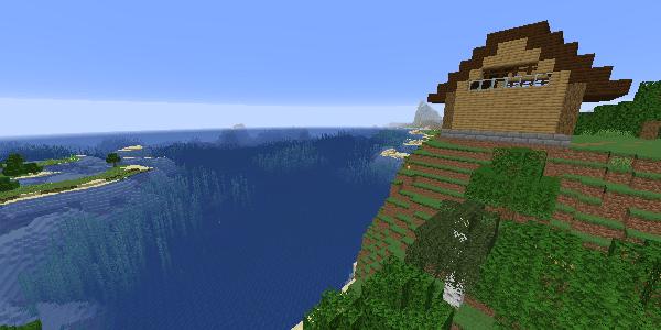 見晴らしのいい高台の家
