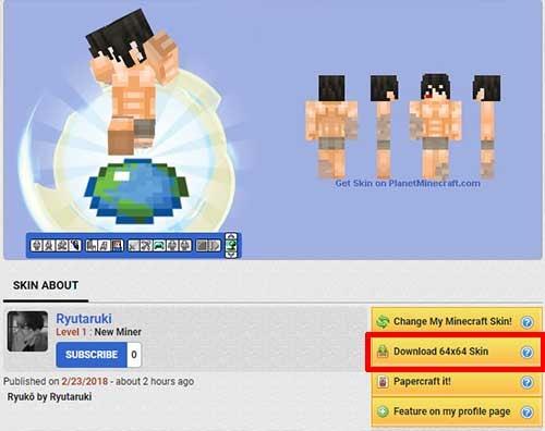 スキンの変更方法と配布サイト プレイヤーの見た目を変えて遊んでみよう