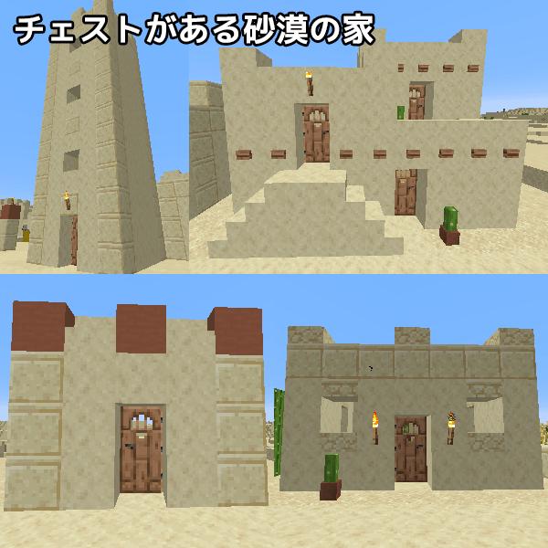 チェストのある砂漠の村の家