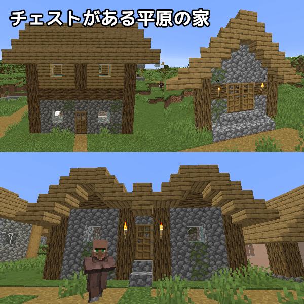 草原の村でチェストが置かれている家