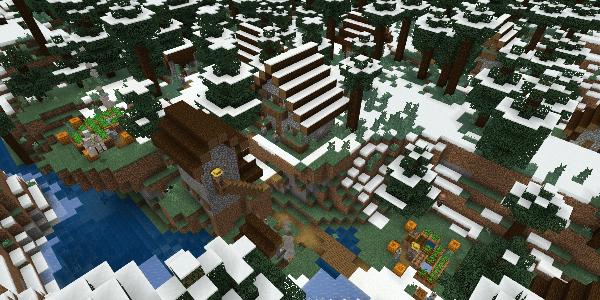 雪のタイガの村