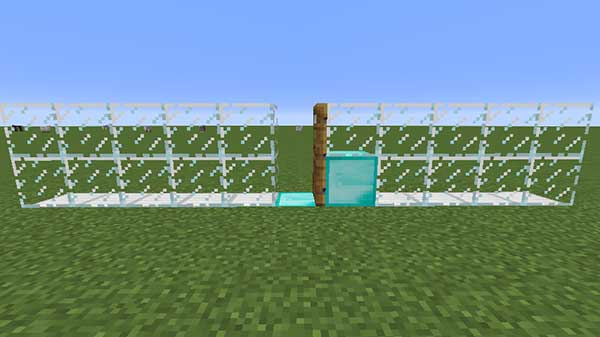 ドアの前に置いたブロック