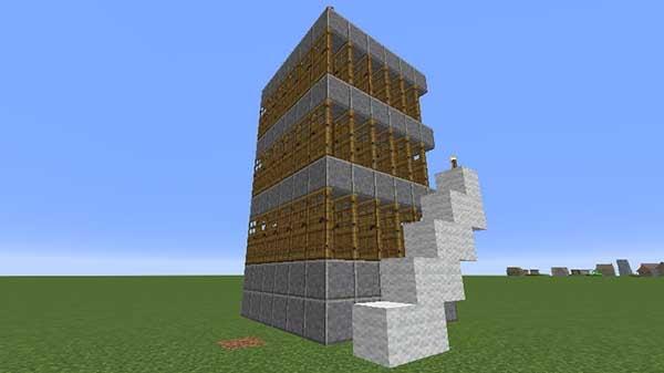 階段状のブロック