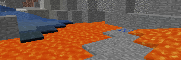 地下の溶岩湖