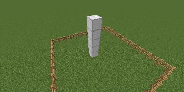 5ブロックの柱
