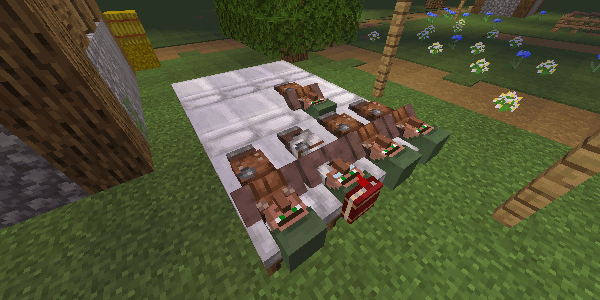 ベッドに寝ている村人
