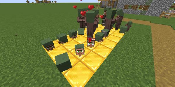 ブロックに埋まる村人