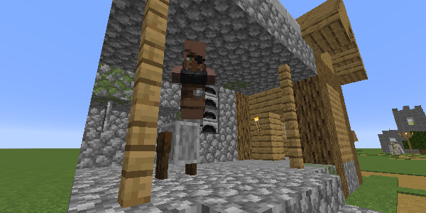 眼帯をつけた村人