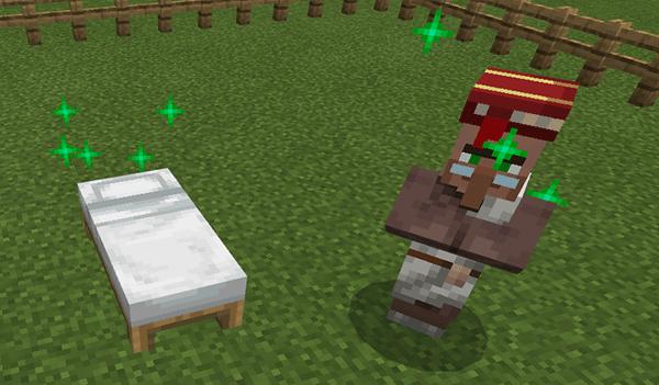 ベッドと村人のひも付け