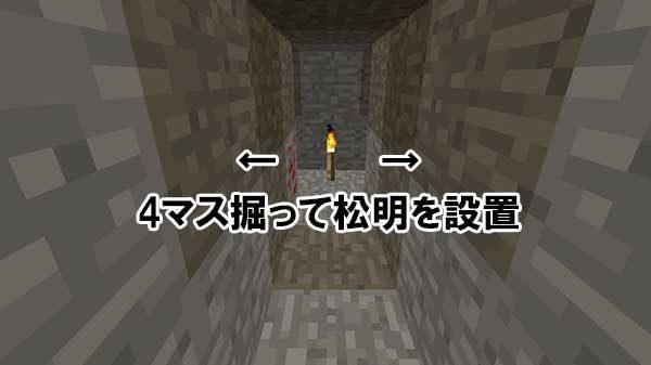 入口前の坑道2