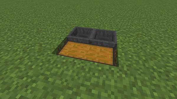 地面に埋められたチェスト