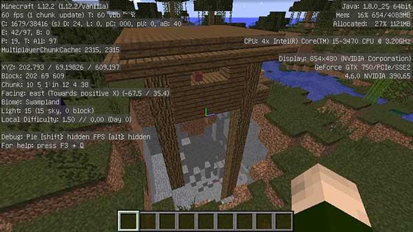 大穴の上のウィッチの小屋