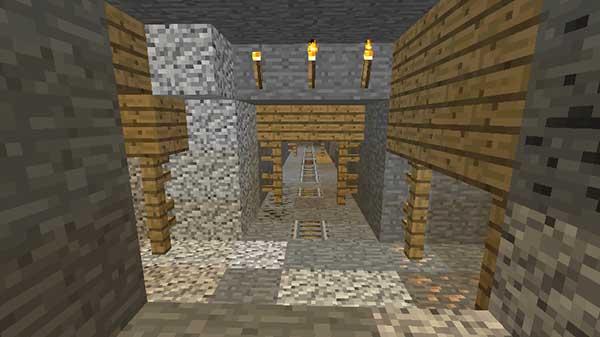 坑道の上の目印