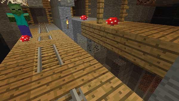 空中に生成された坑道