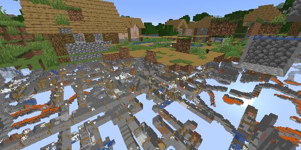 村の下の廃坑