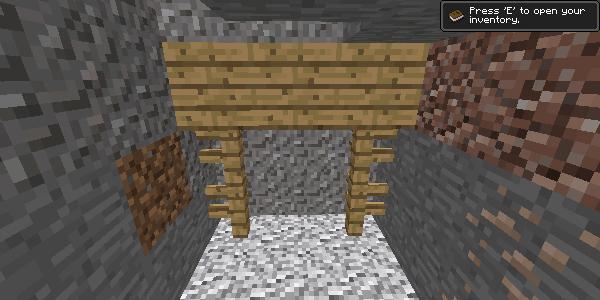 行き止まりの坑道