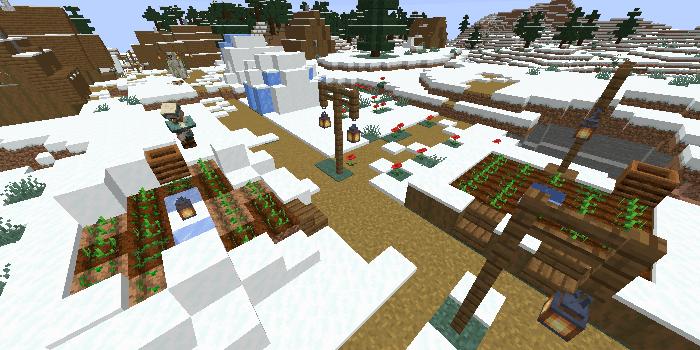 最寄りの村の畑