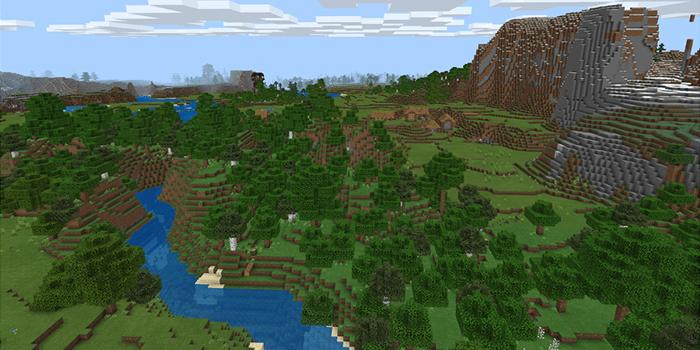 初期スポーン地点の近くの村